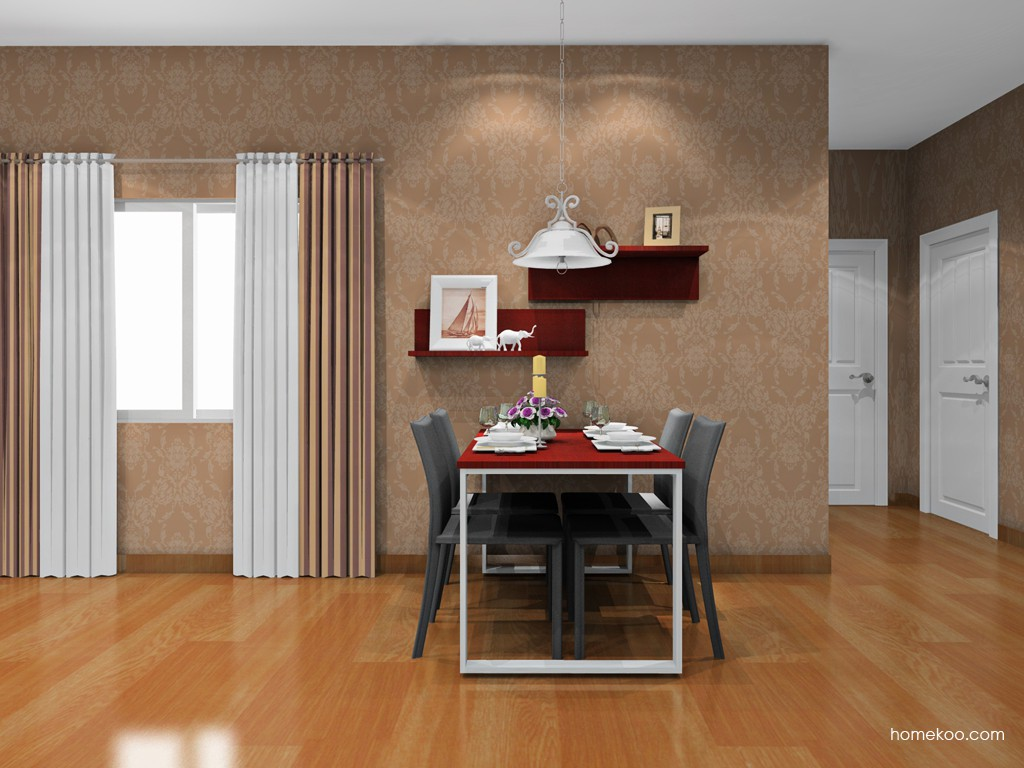 诺曼红影餐厅家具E16552