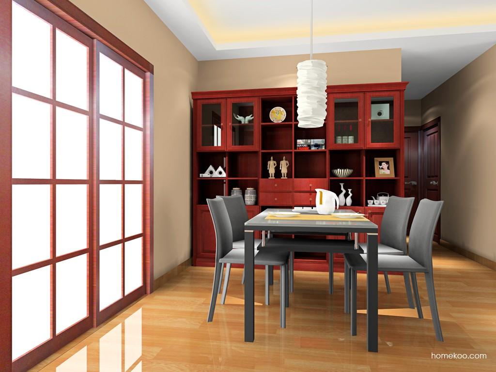 诺曼红影餐厅家具E16557