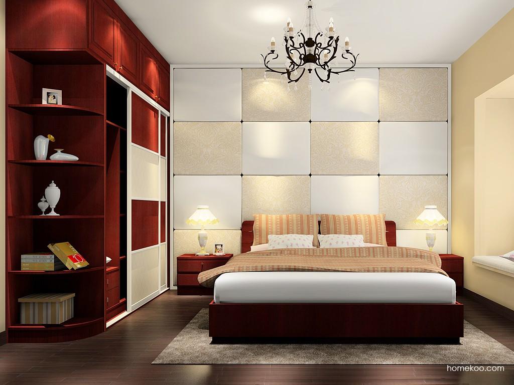 诺曼红影卧房家具A16771