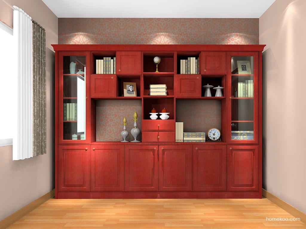 诺曼红影书房家具C16460