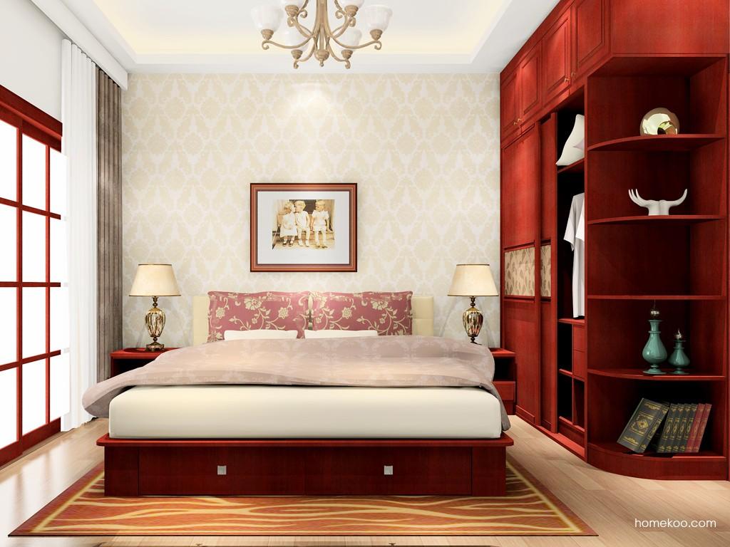 诺曼红影卧房家具A16811