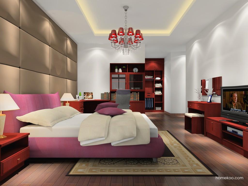 诺曼红影卧房家具A16816