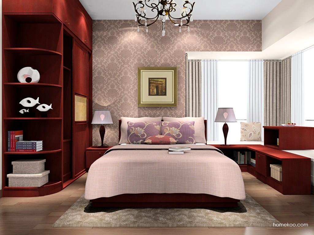 诺曼红影卧房家具A16820