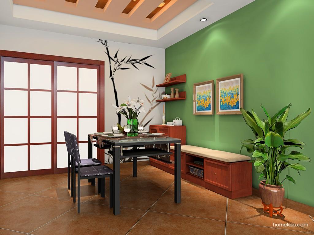 新中式主义餐厅家具E16596