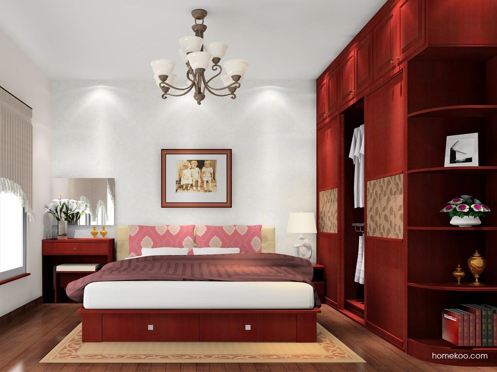 诺曼红影卧房家具A16894