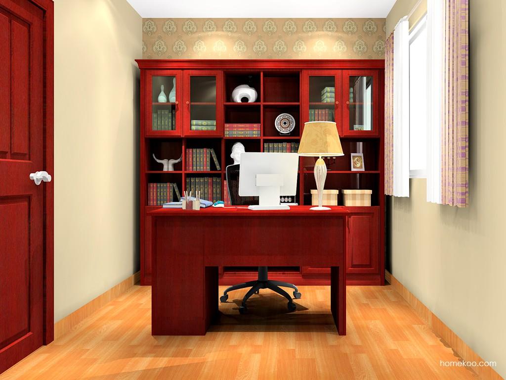 诺曼红影书房家具C16517