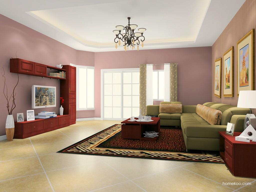 诺曼红影客厅家具D16596