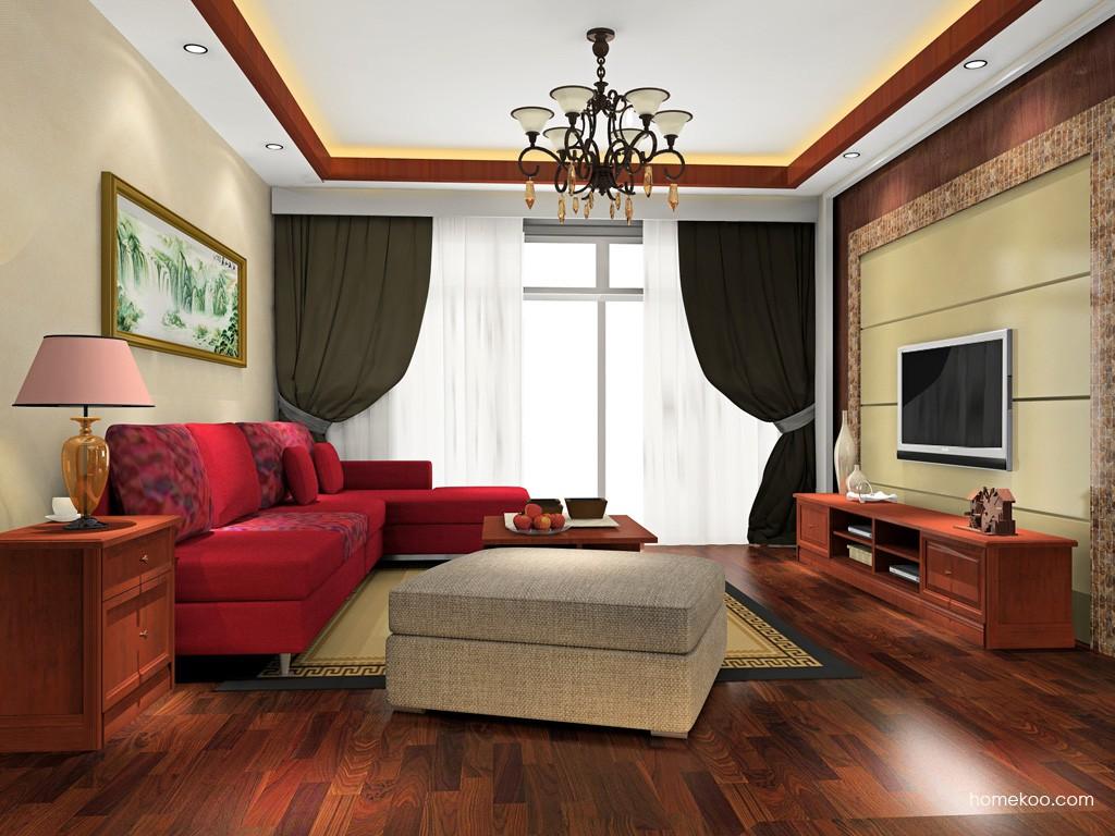 新中式主义客厅家具D16617