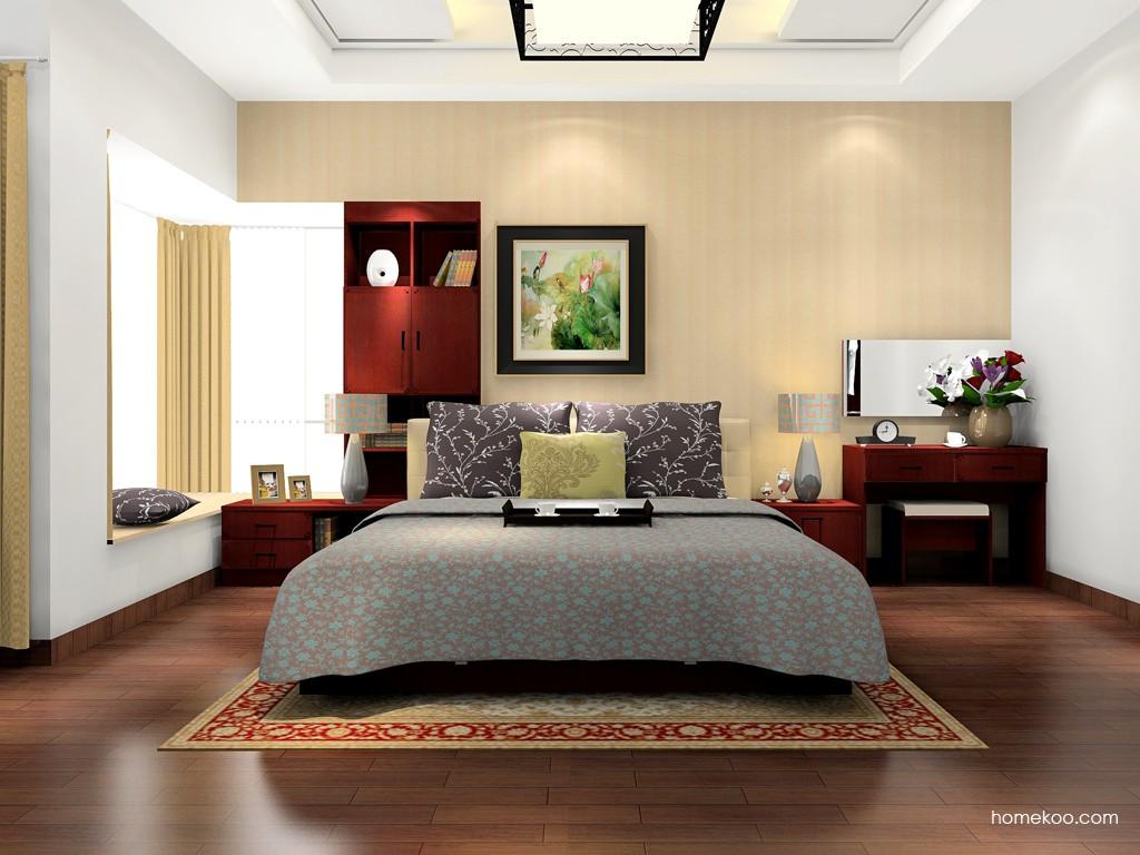 诺曼红影卧房家具A17159
