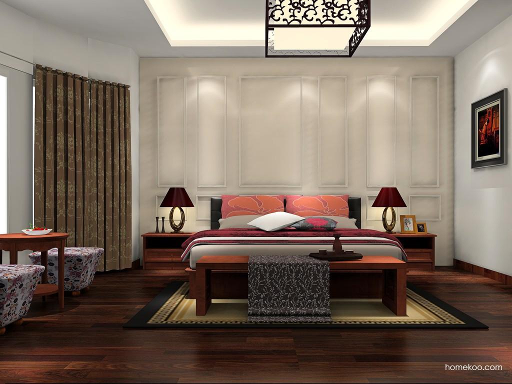 新中式主义卧房家具A17163