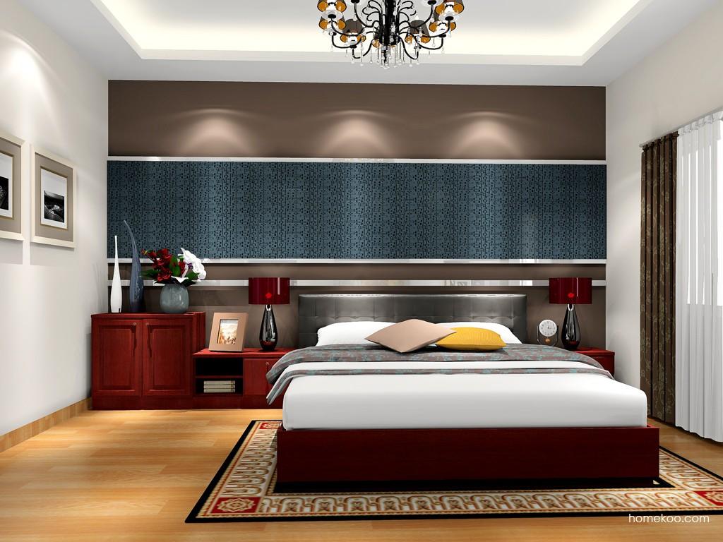 诺曼红影卧房家具A17265