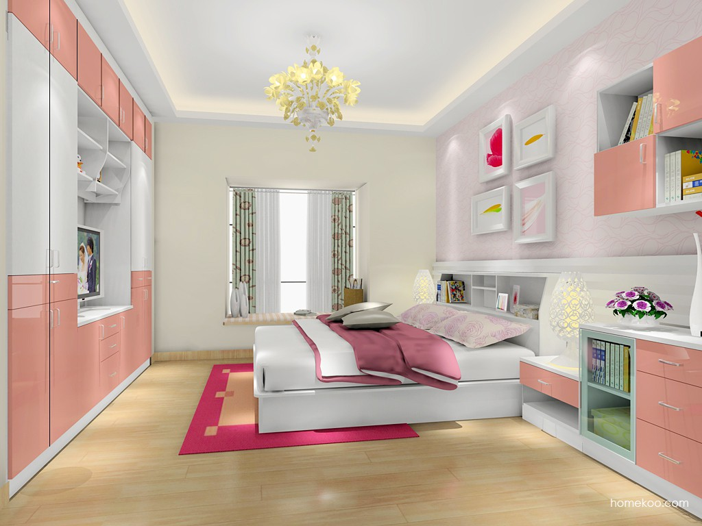 浪漫主义卧房家具A17434