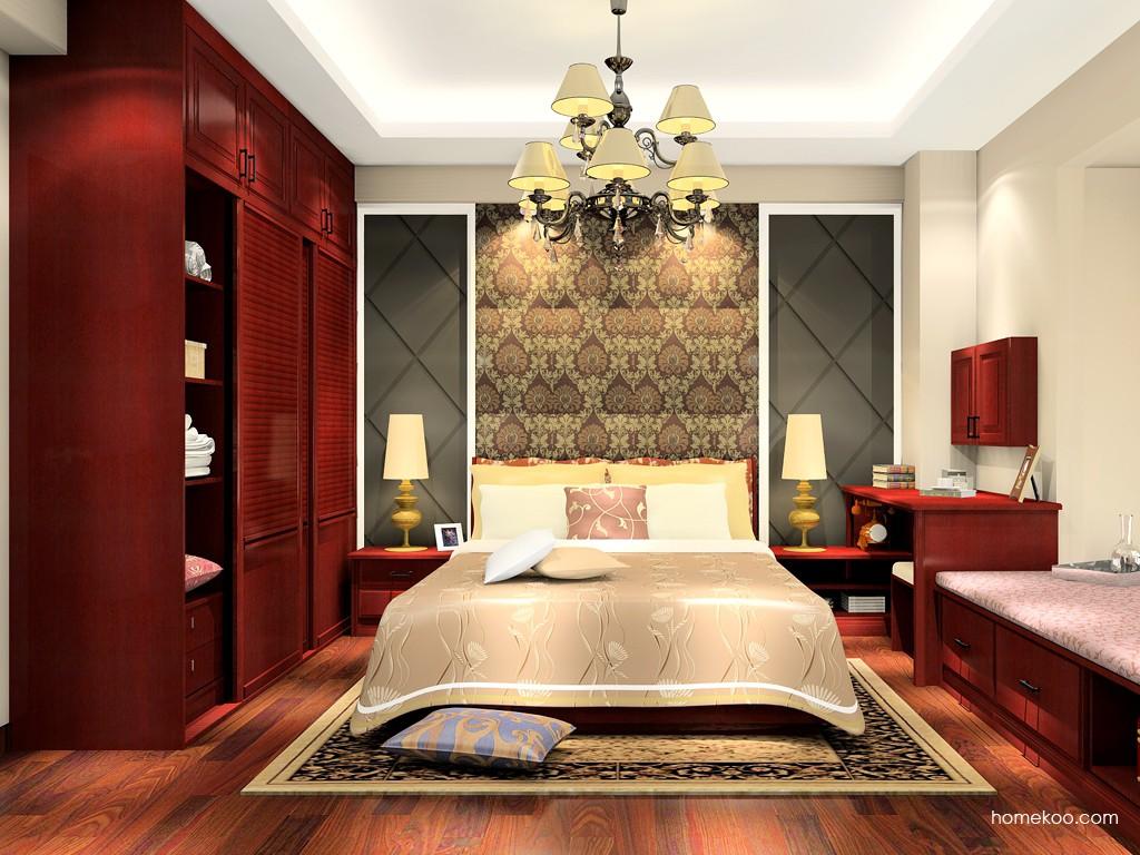诺曼红影卧房家具A17491