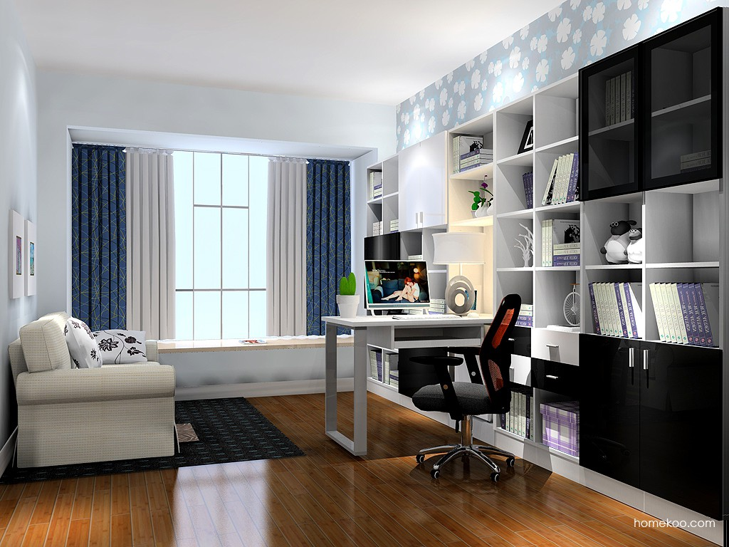 新实用主义书房家具C17563