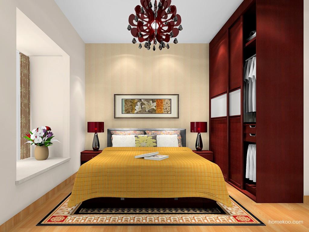 诺曼红影卧房家具A17560