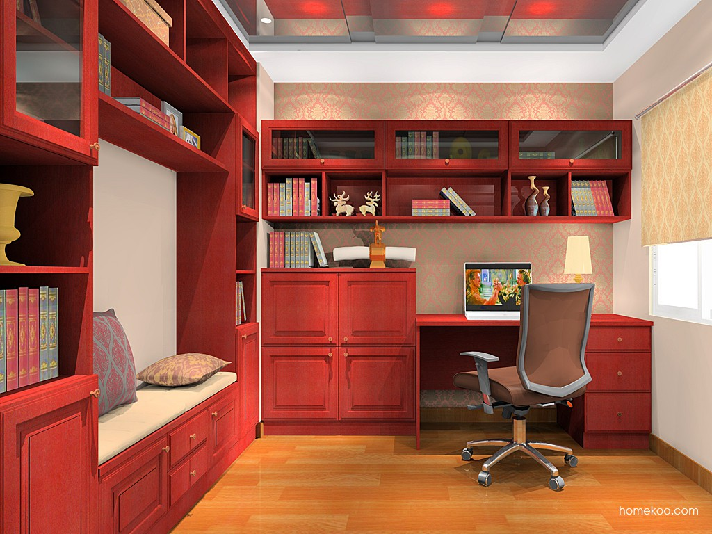 诺曼红影书房家具C17705