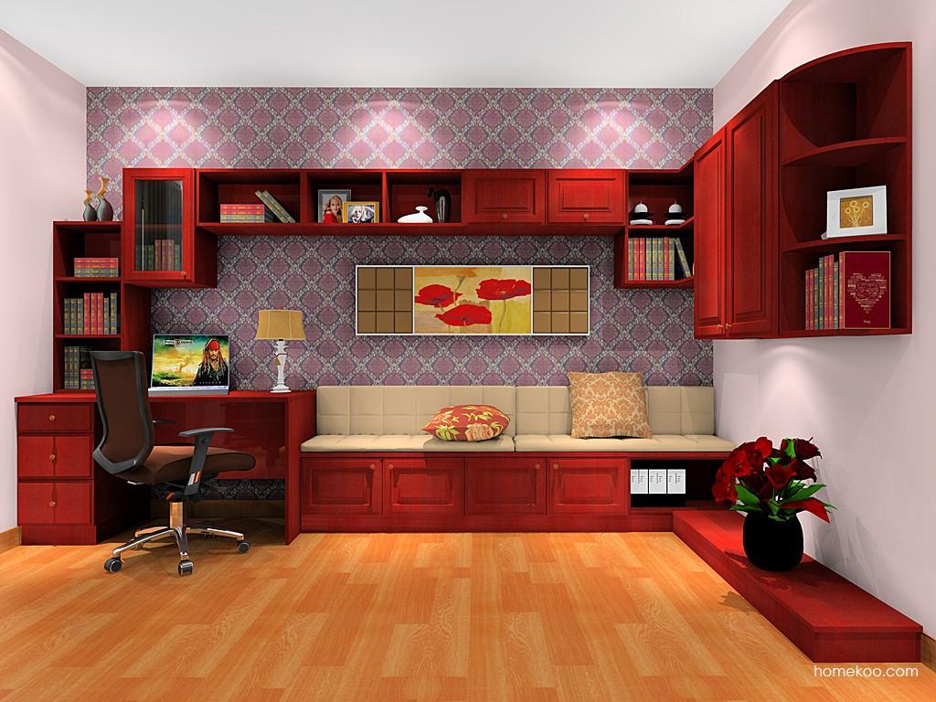 诺曼红影书房家具C17807