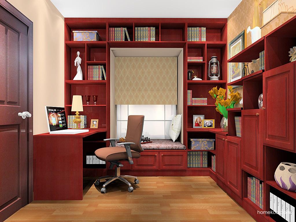 诺曼红影书房家具C17918
