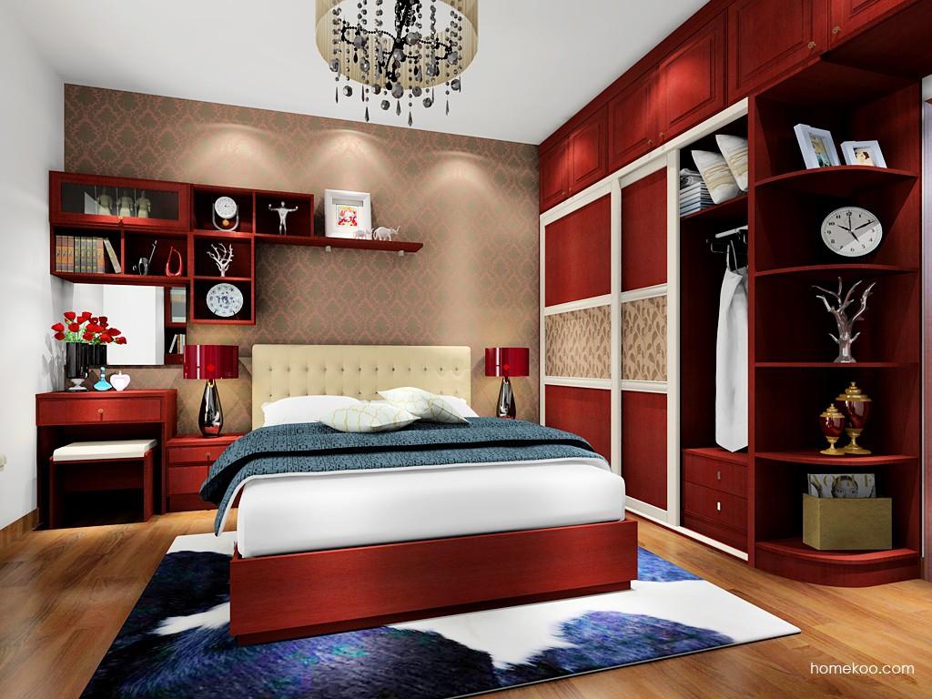 诺曼红影卧房家具A17794