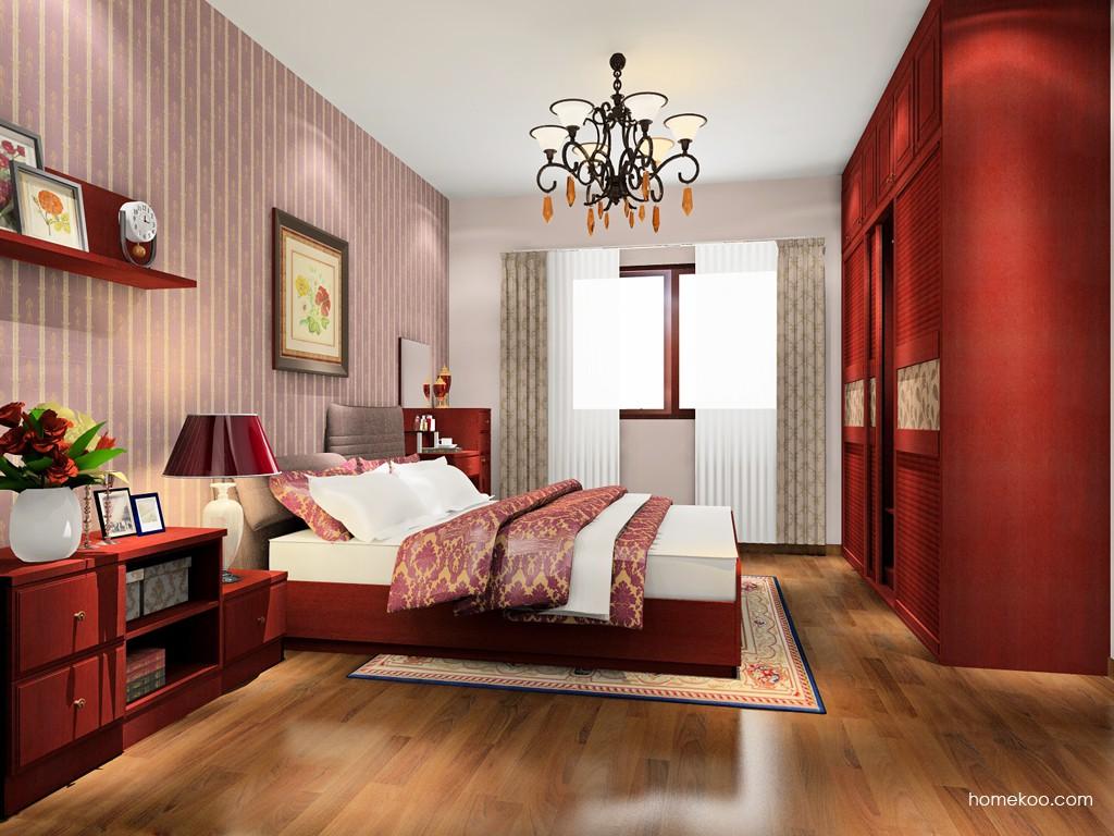 诺曼红影卧房家具A17812