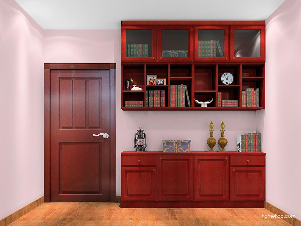 诺曼红影书房家具C18016