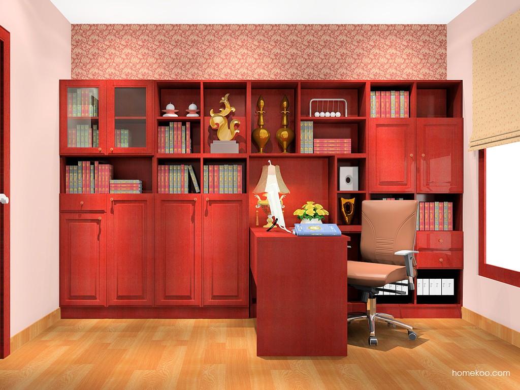 诺曼红影书房家具C18019