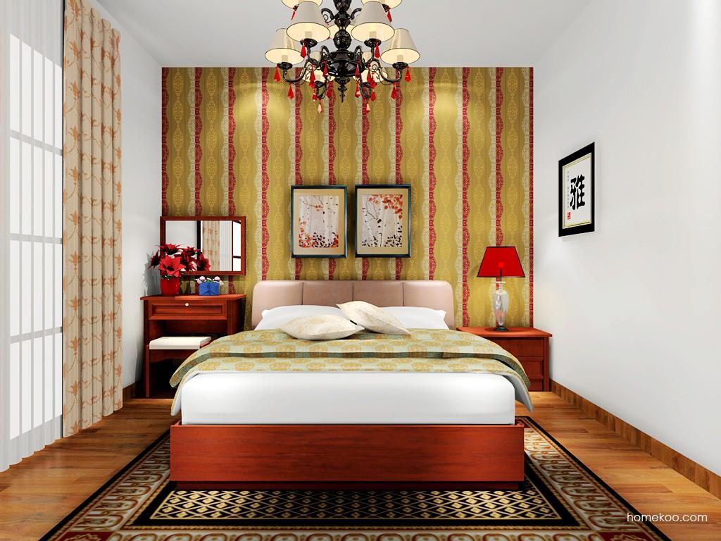 新中式主义卧房家具A17936