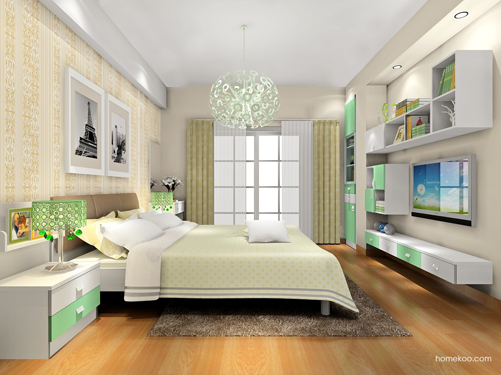 新实用主义卧房家具A17952