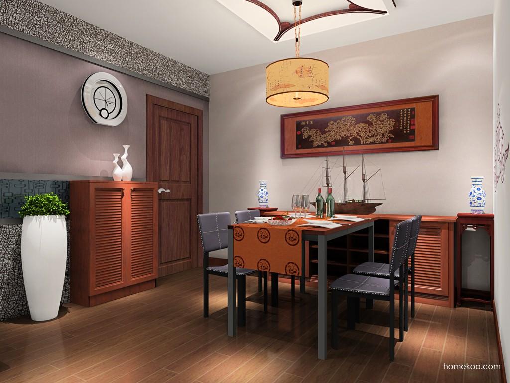 新中式主义餐厅家具E16851