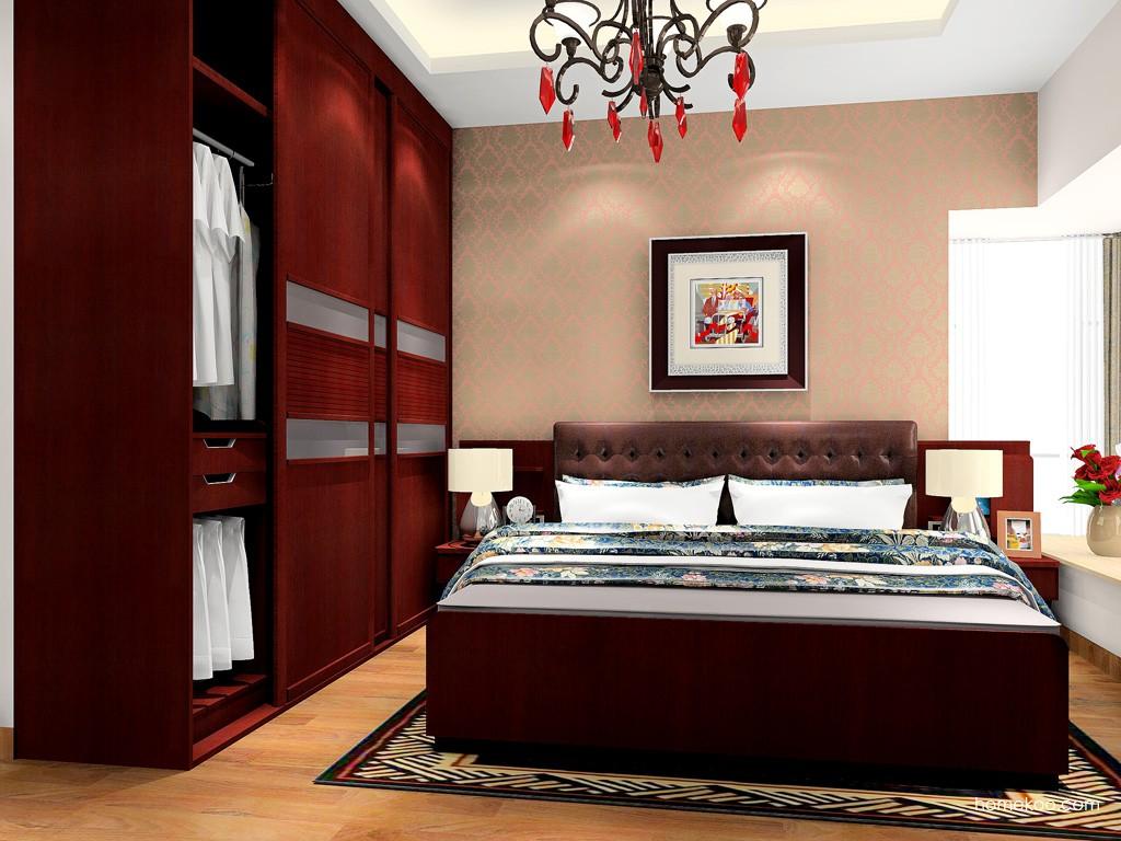 诺曼红影卧房家具A18147