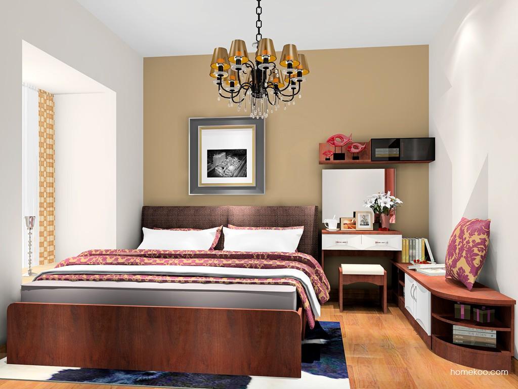 挪威月色卧房家具A18204