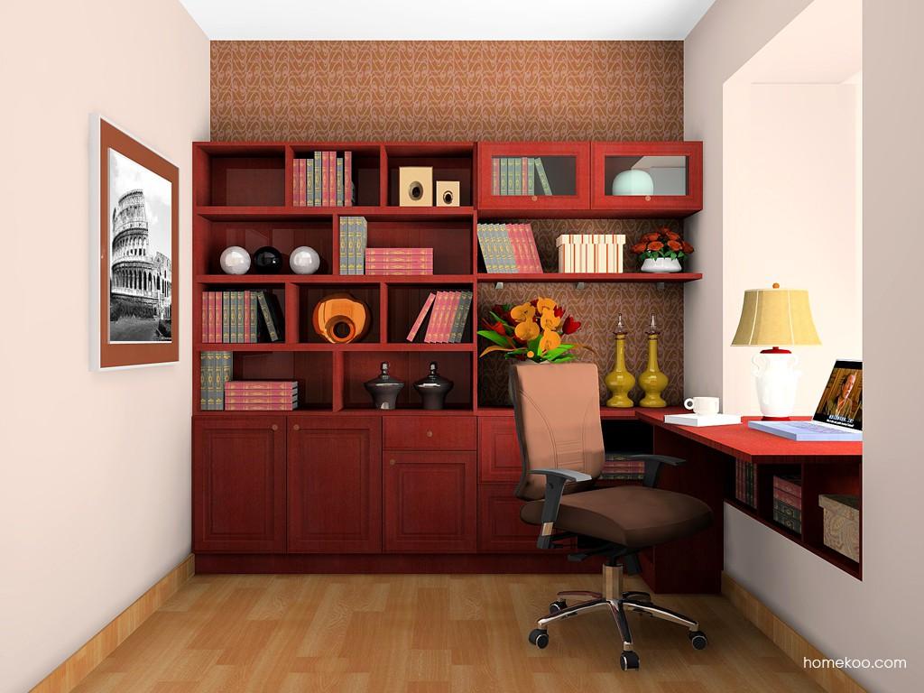 诺曼红影书房家具C18525