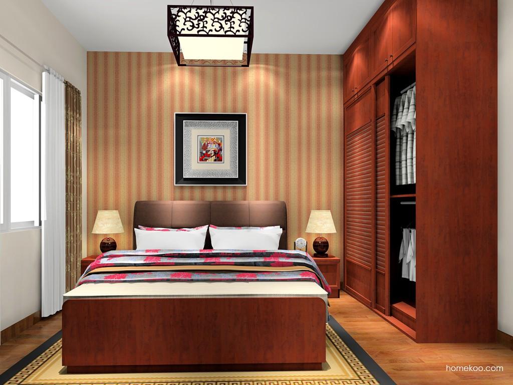 新中式主义卧房家具A18429