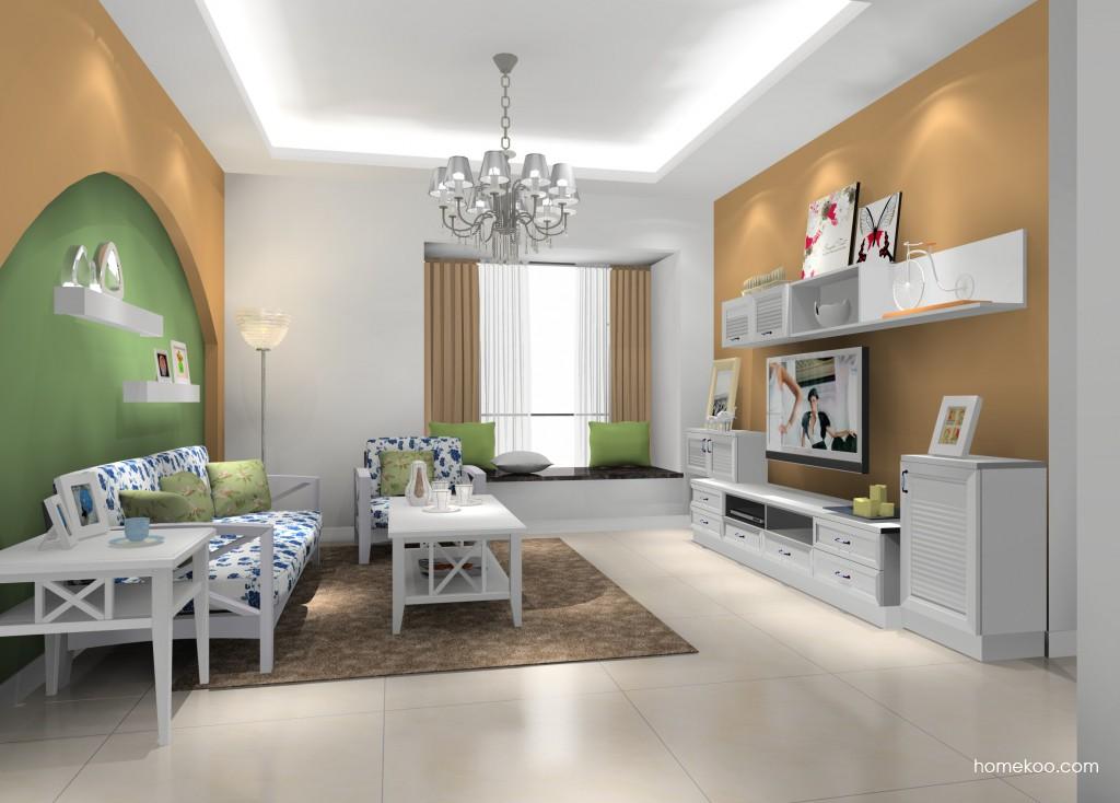 韩式田园客厅家具D16881