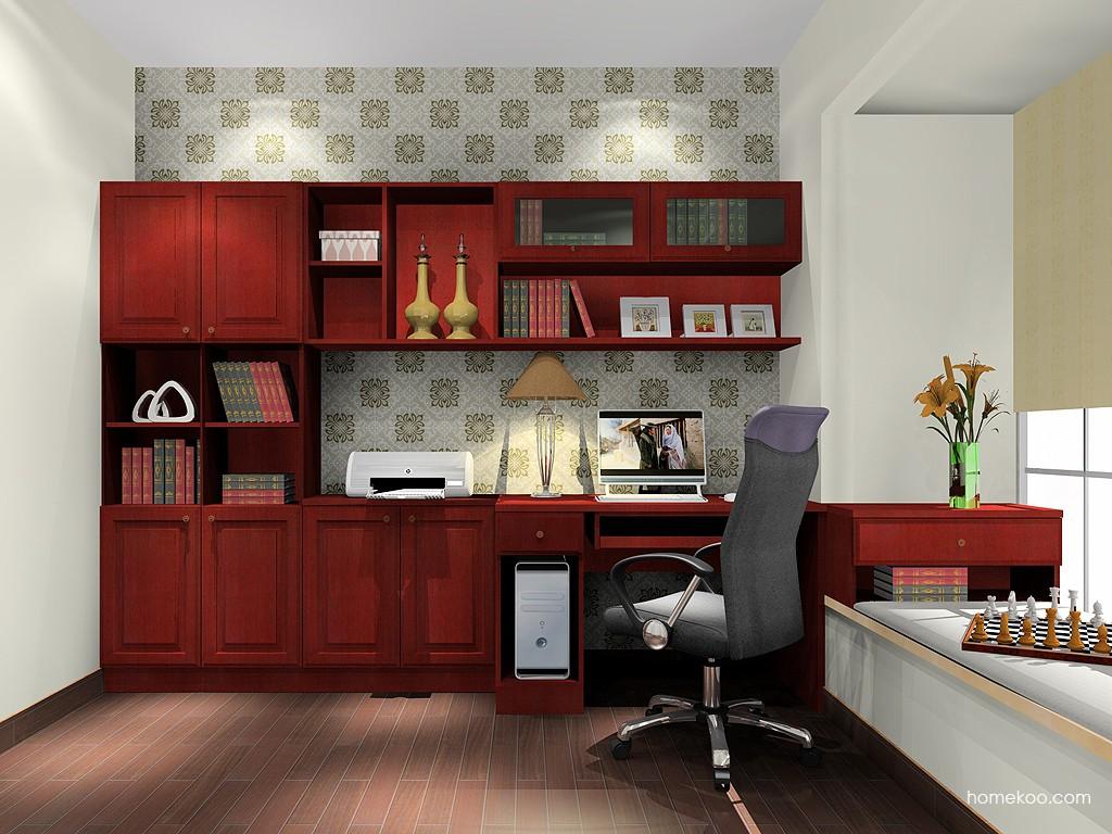 诺曼红影书房家具C18771