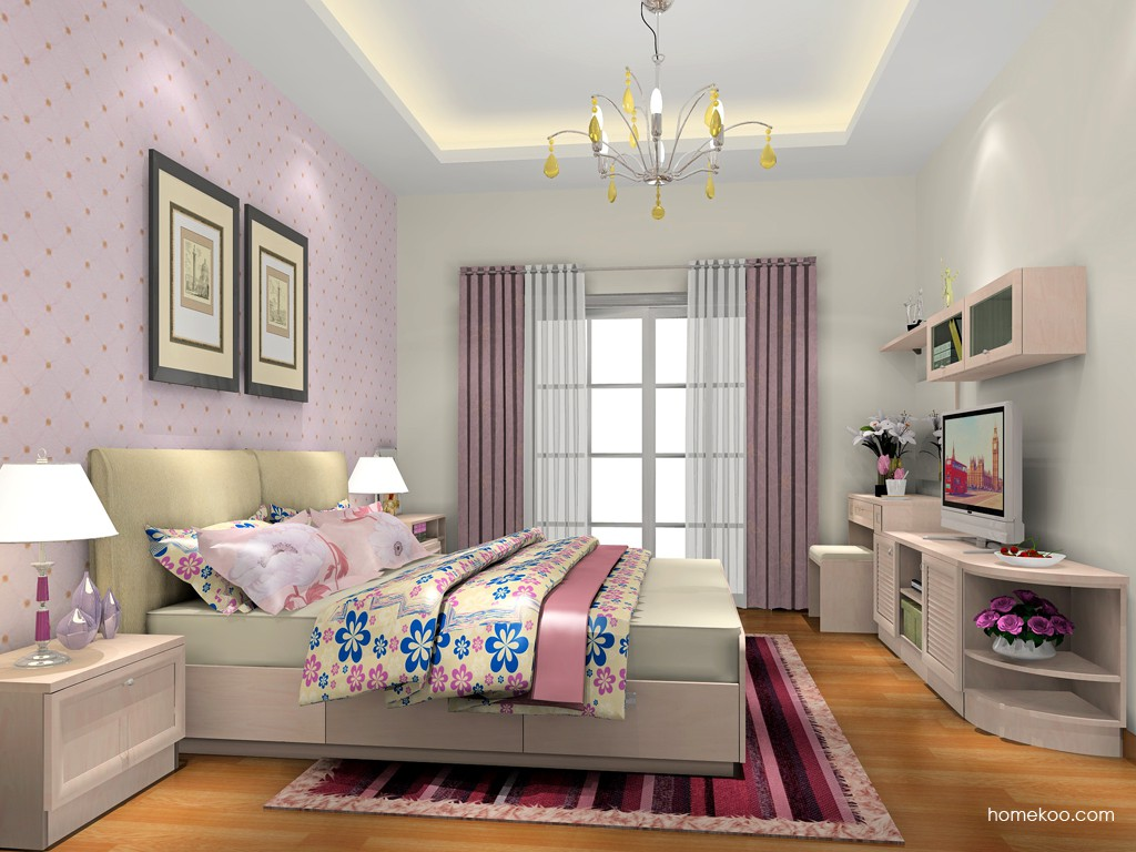 北欧阳光卧房家具A18584