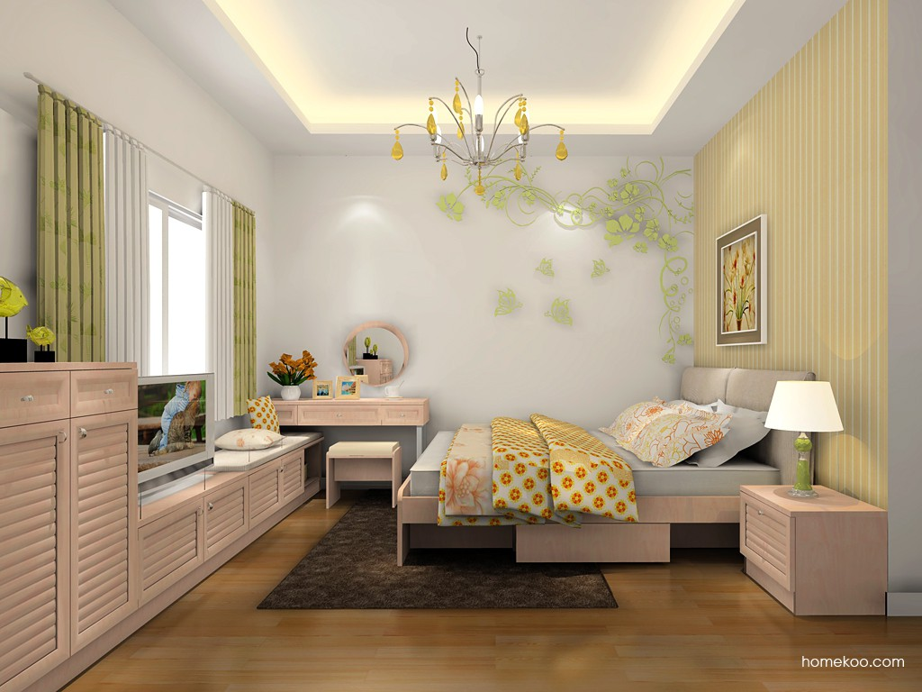 北欧阳光卧房家具A18614