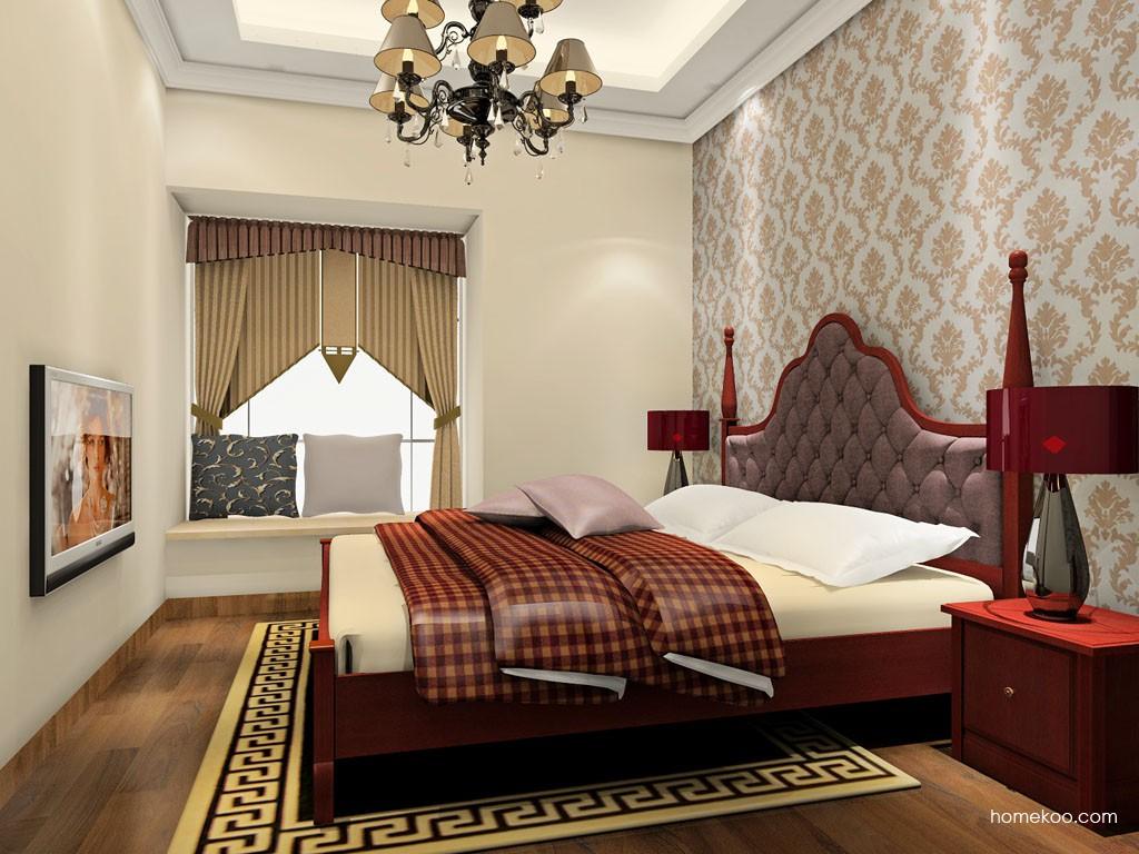 诺曼红影卧房家具A18623