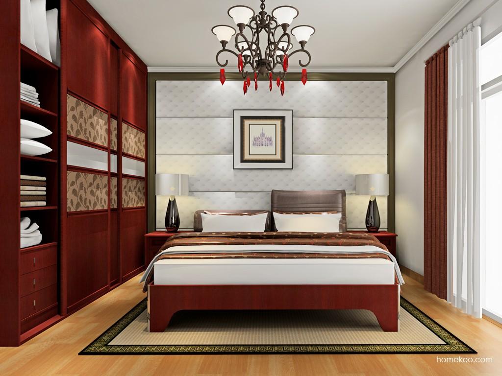 诺曼红影卧房家具A18760