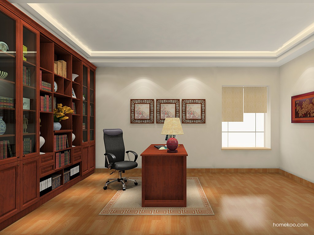 新中式主义书房家具C18923