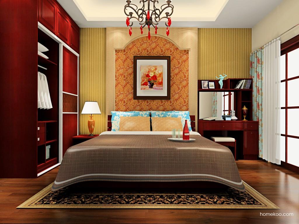 诺曼红影卧房家具A19113