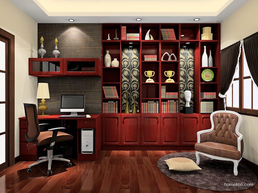 诺曼红影书房家具C19135