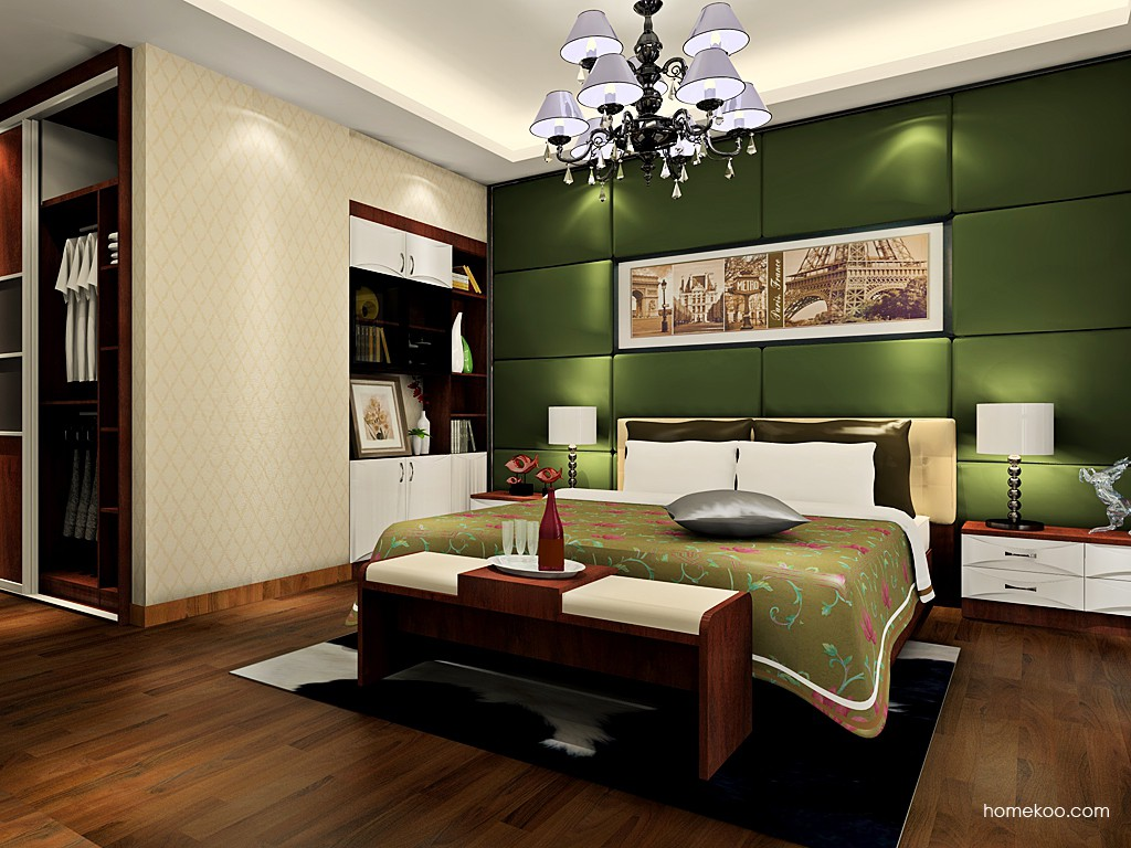 挪威月色卧房家具A19174