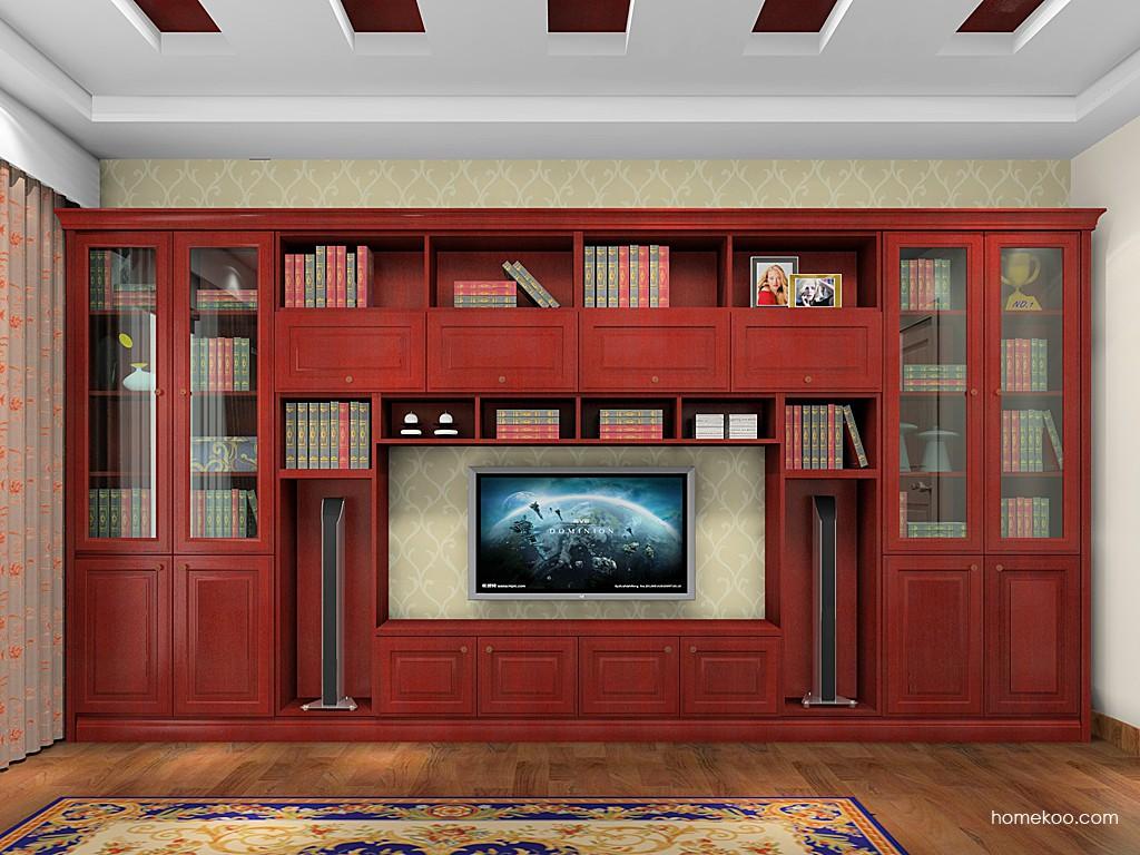 诺曼红影书房家具C19200