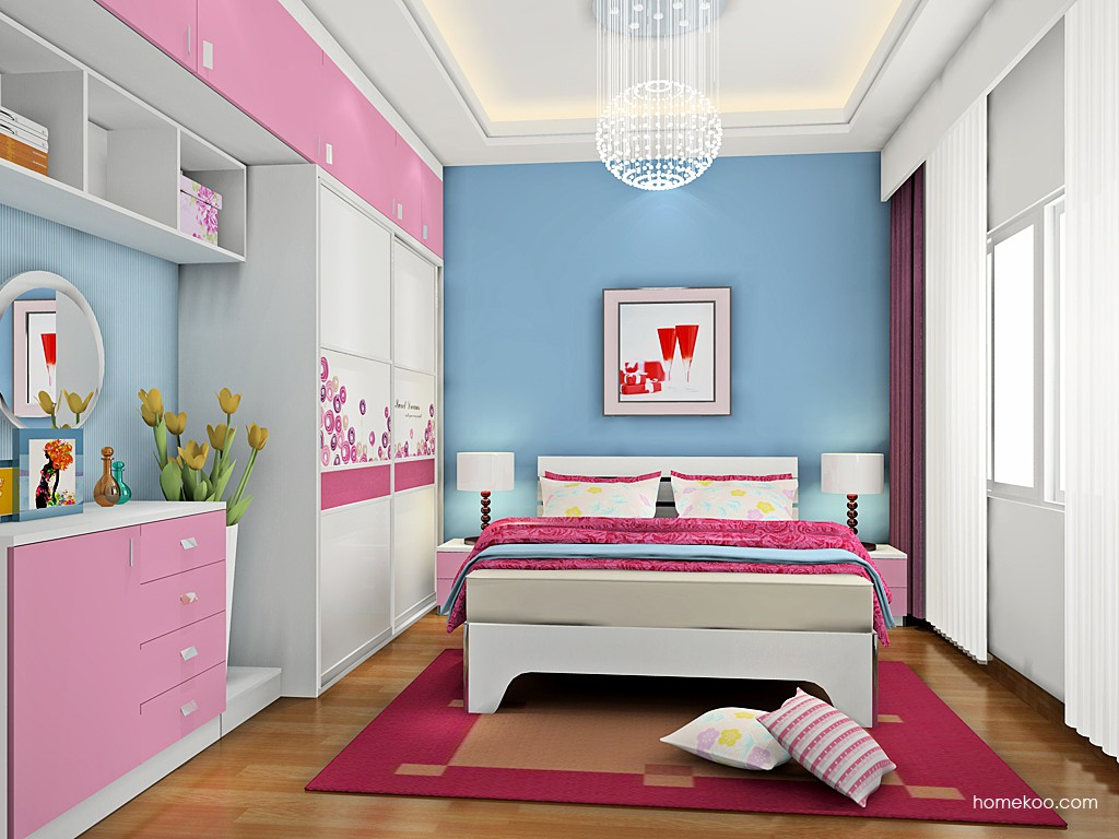 浪漫主义卧房家具A19186