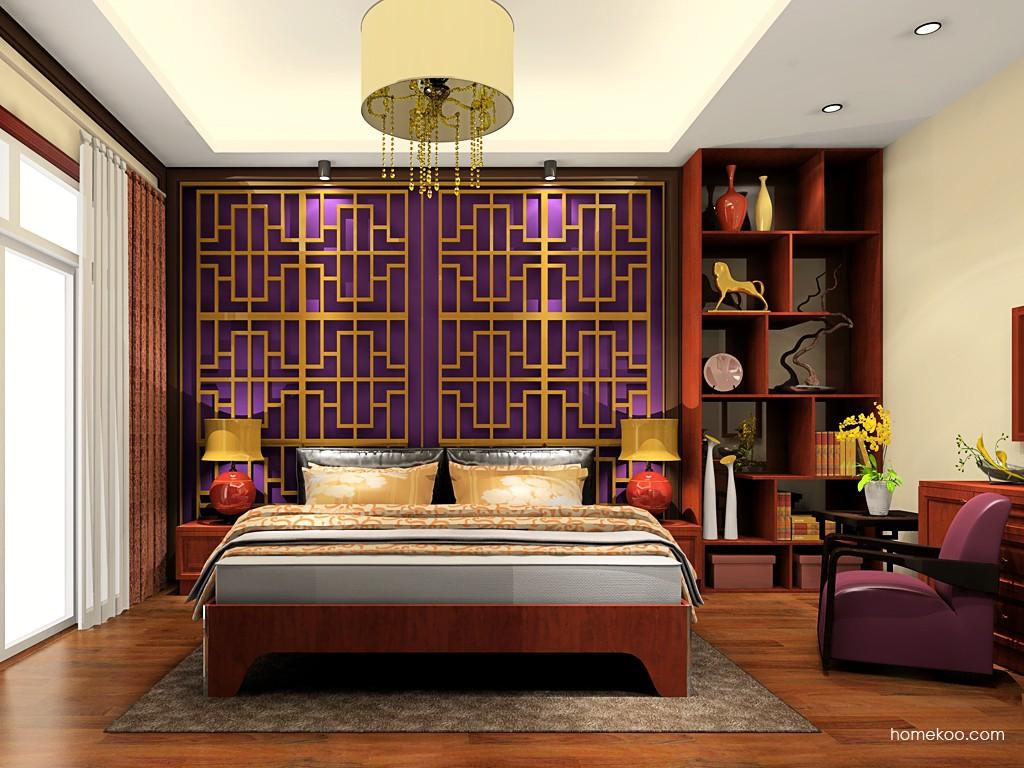 新中式主义卧房家具A19192