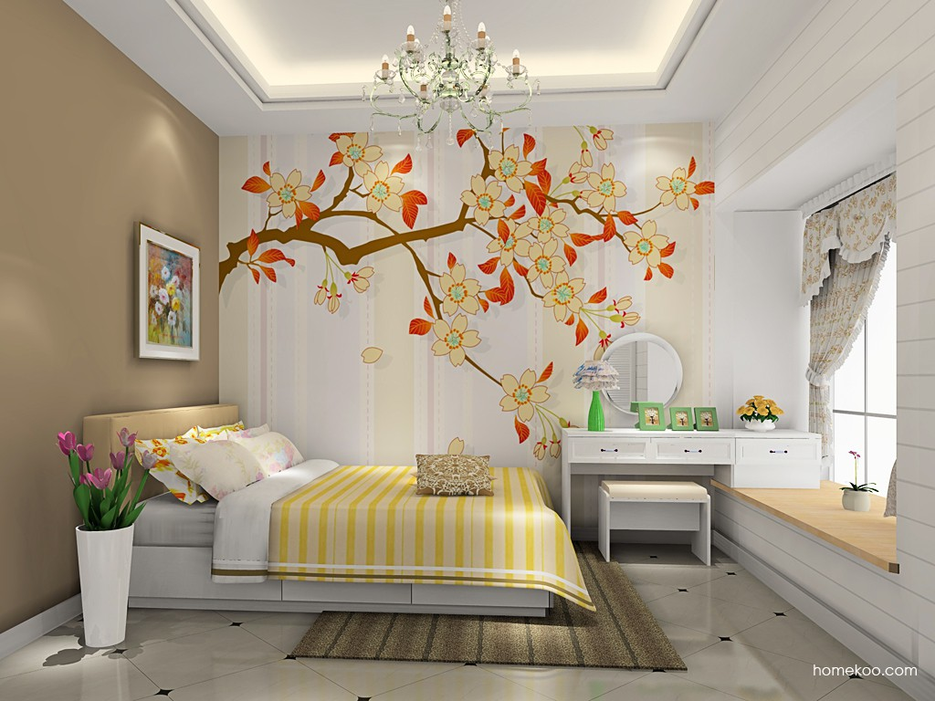 韩式田园卧房家具A19223