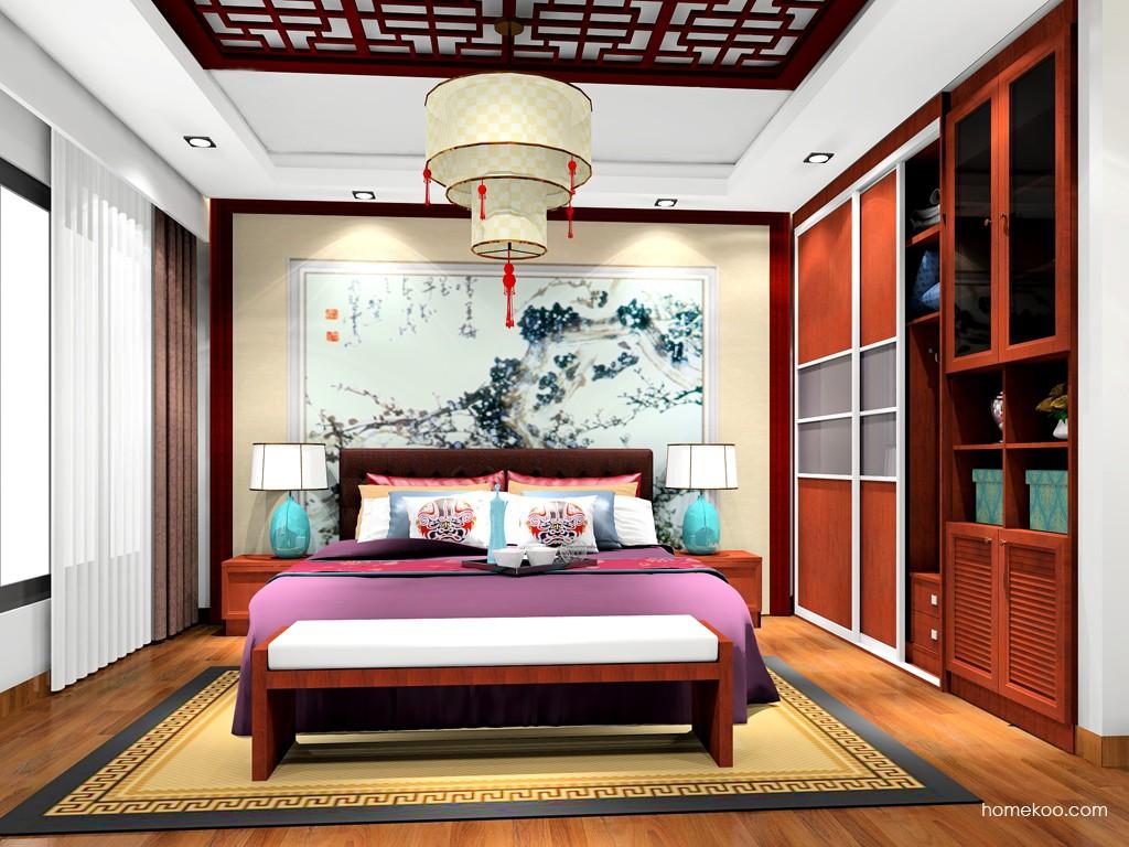 新中式主义卧房家具A19244