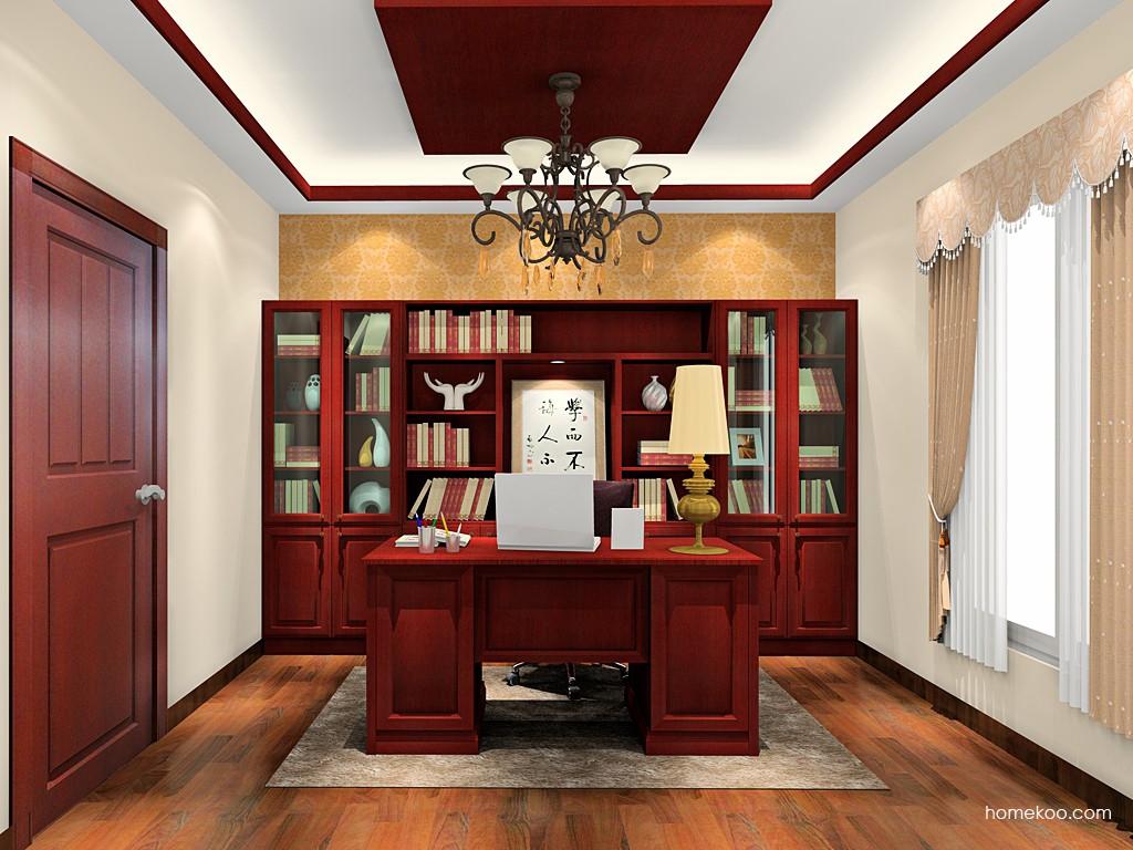诺曼红影书房家具C19279
