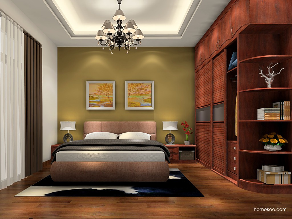 挪威月色卧房家具A19271